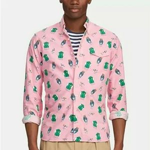Pink Polo bear button down shirt